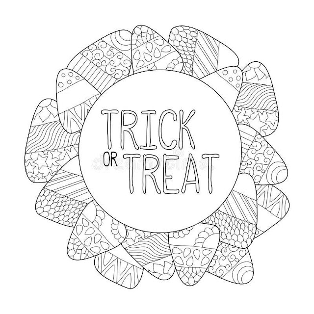 Free Printable Halloween Trick or Treat Coloring sheets for Kids