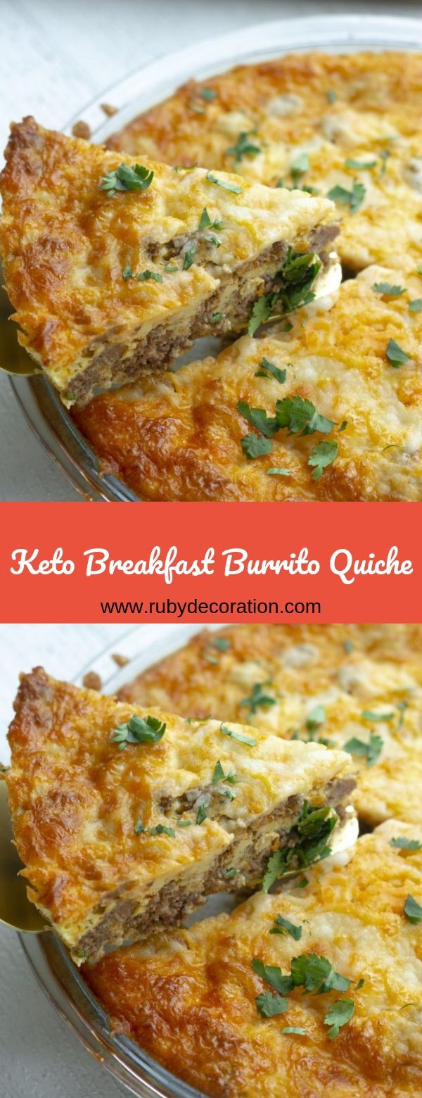 Keto Breakfast Burrito Quiche
