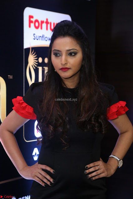 Meghana Gore looks super cute in Black Dress at IIFA Utsavam Awards press meet 27th March 2017 01.JPG