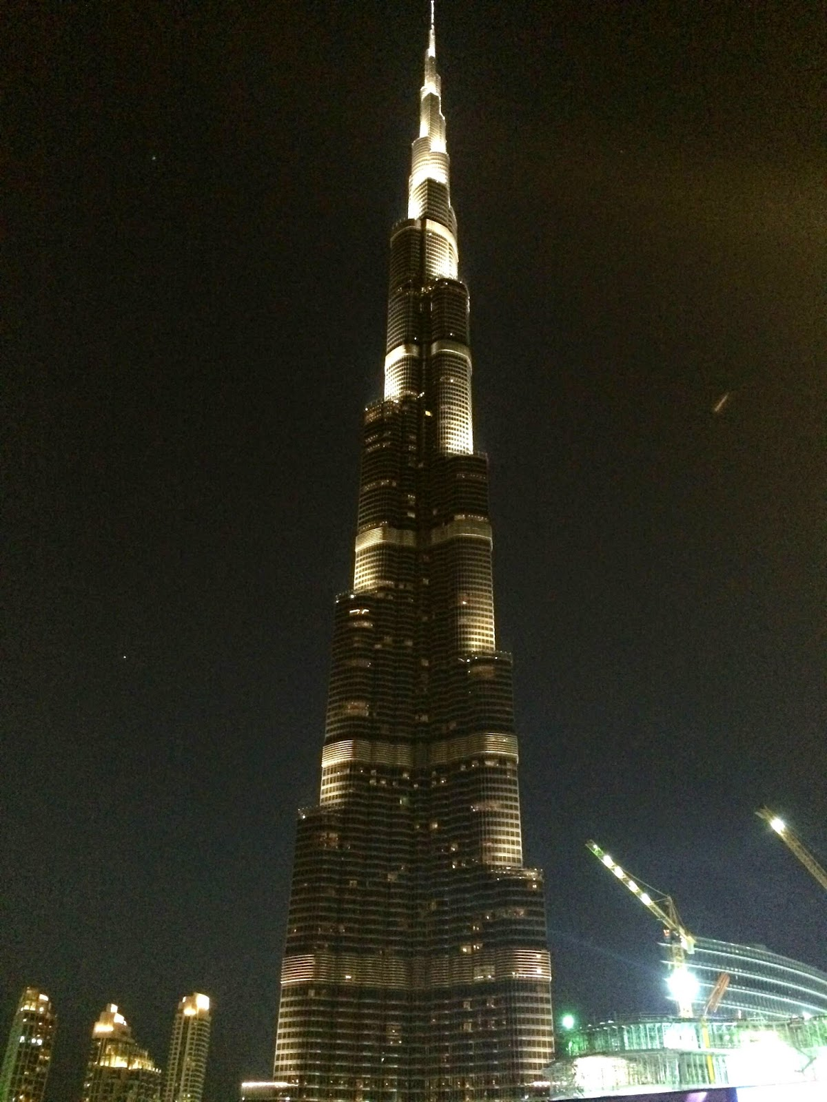 Burj Khalifa - It is the tallest building in the world at a half mile high.
