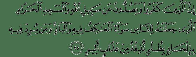 Surat Al Hajj ayat 25