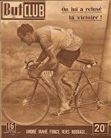 André Mahé sur les pavés de Paris-Roubaix