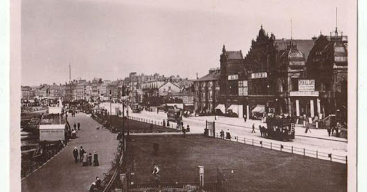 Rarely-Seen Vintage Photos of Horse-Drawn Trams in Morecambe, Lancashire in the 1900s
