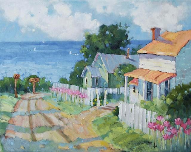 Рисунки акварелью и маслом. Joyce Hicks 15