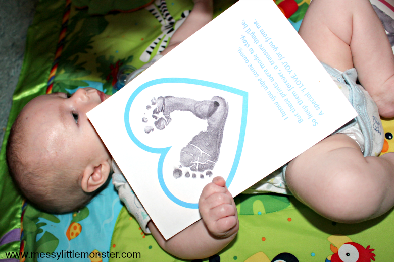 baby footprint poem craft