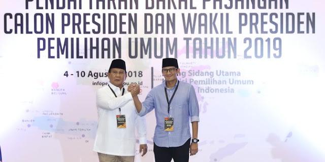 Jika Prabowo-Sandi Dapat Nomor 2, Gerindra bakal Diuntungkan di Pemilu 2019