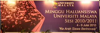 The banner in Dewan Tunku Canselor (DTC).