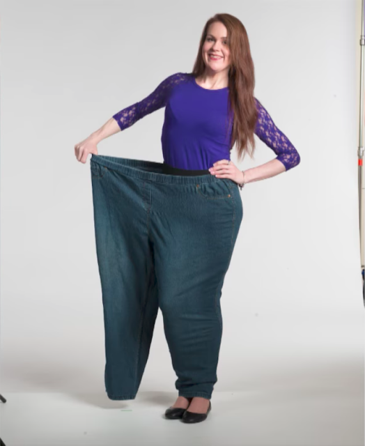 She lost an impressive 294 pounds