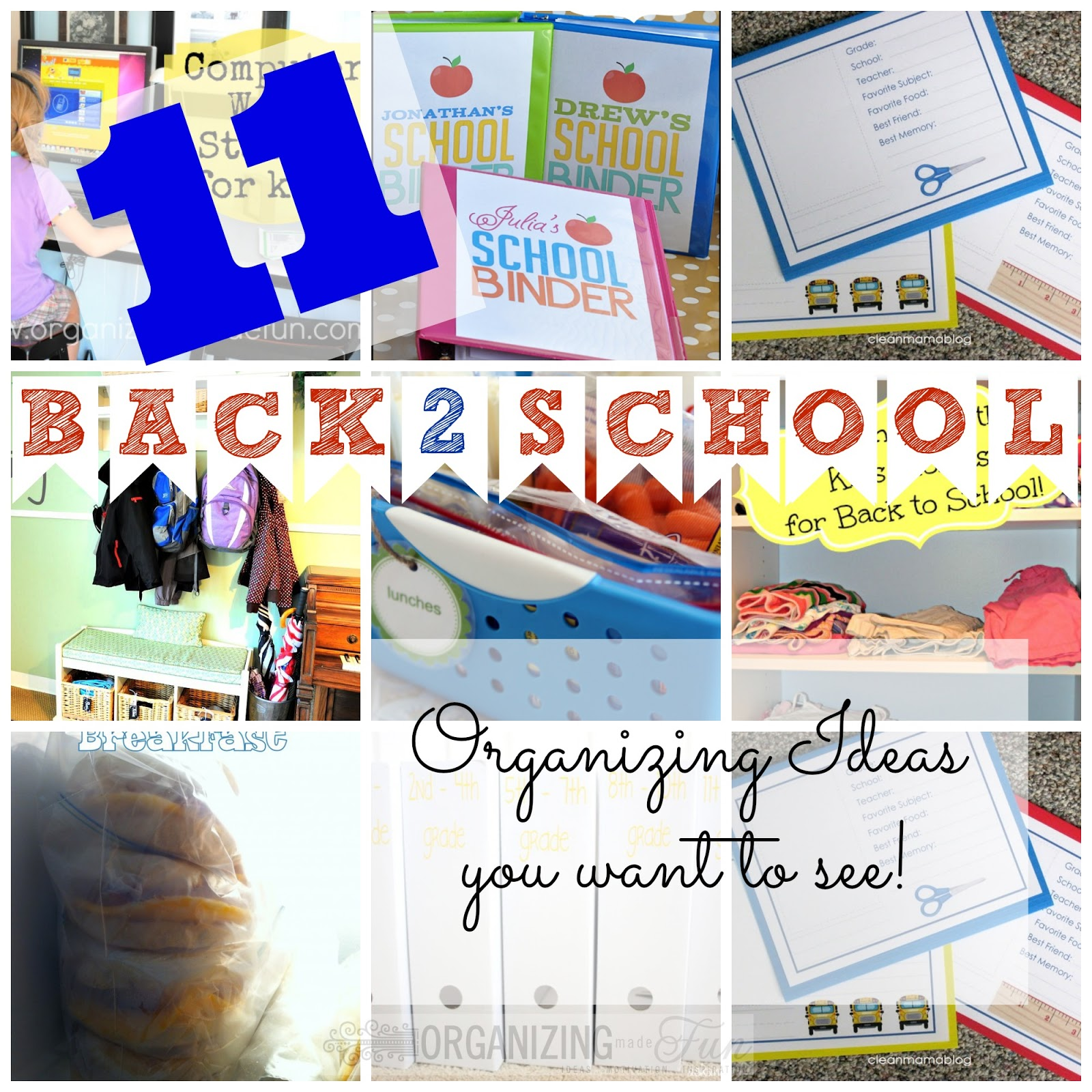 Perfectly Organized What Organizing Made Fun: 11 Back To School Organizing Ideas You Want To See