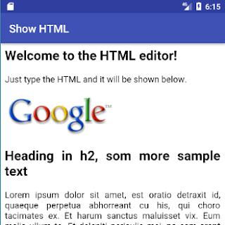 Menampilkan Kode HTML pada WebView Android
