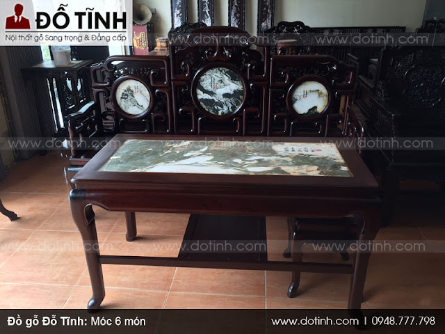 Hình ảnh bàn ghế gỗ móc 6 món đẹp mê ly