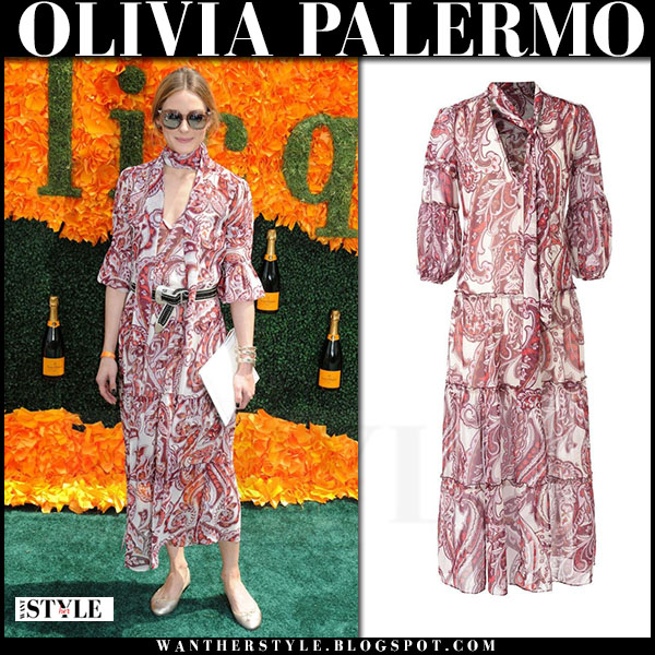 Olivia Palermo in red paisley print maxi dress chelsea28 what she wore