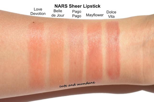 Cute and Mundane: My NARS sheer lipstick collection  Cute and Mundan...