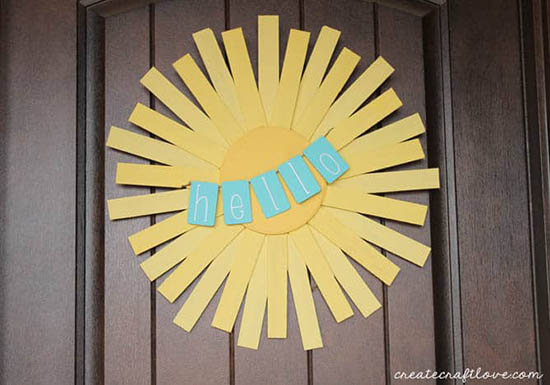 Create Craft Love - Hello Sunshine Spring Wreath