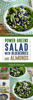 Kalyn's Kitchen®: Power Greens Salad with Blueberries and Almonds