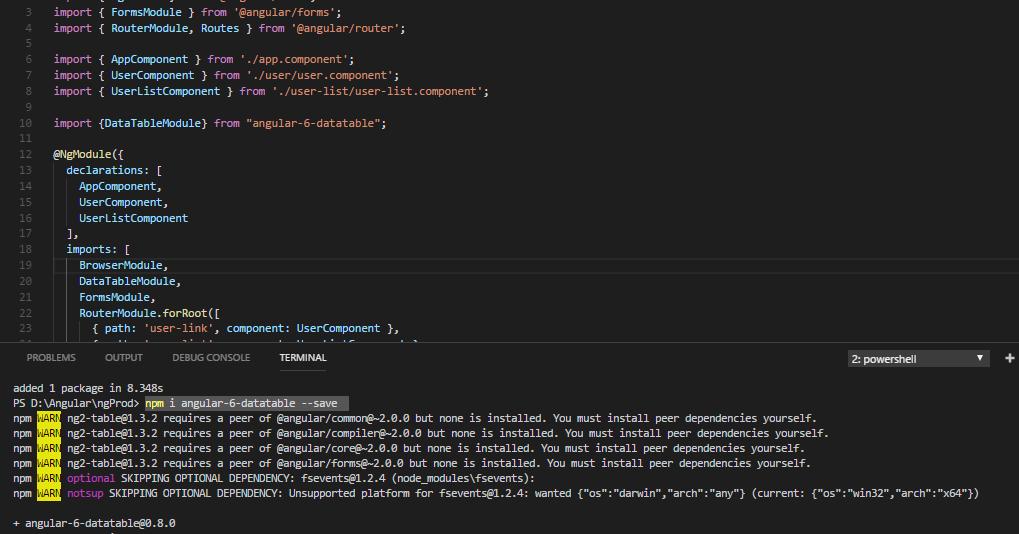 Angular-6-datatable [Pagination, Sort, Sorting, Table in Angular