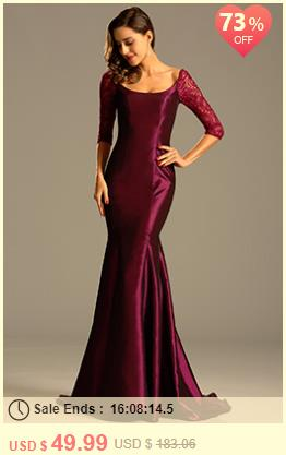 Graceful Burgundy Evening Dress Formal Gown