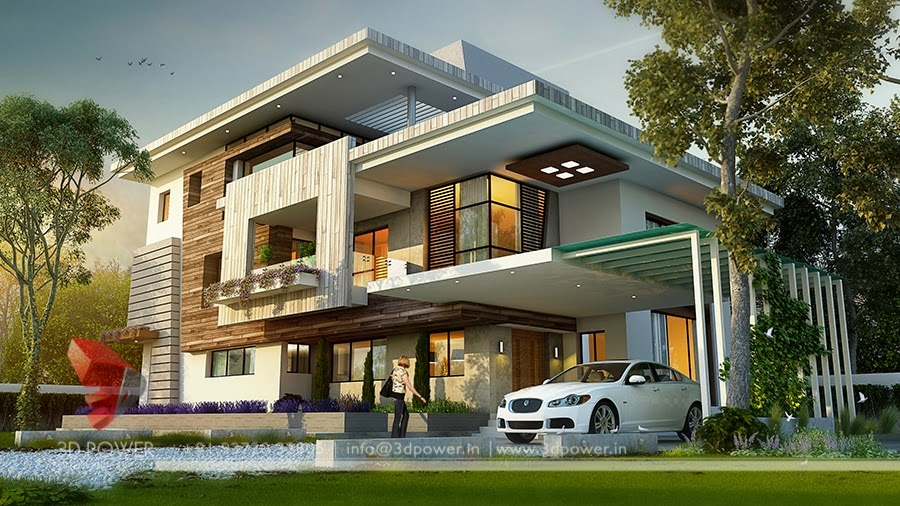 Ultra modern home designs home designs home exterior for Latest architectural design