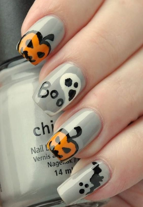 COOL HALLOWEEN NAIL ART IDEA