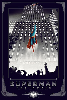 Superman: The Movie Variant Screen Print by Matt Ferguson & Dark Hall Mansion