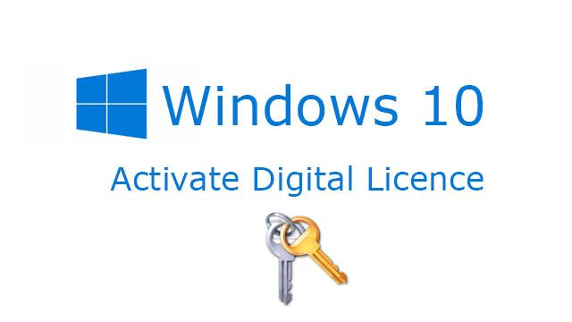 Miễn phí phần mềm kích hoạt bản quyền windows 10 Digital