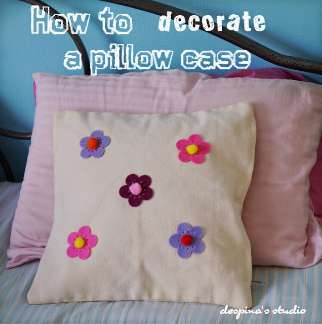 How to decorate a pillow case