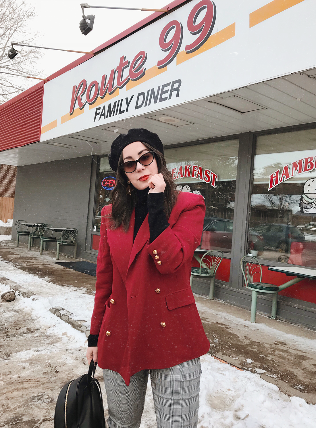 How to style a vintage blazer inspired by 'The Nanny'
