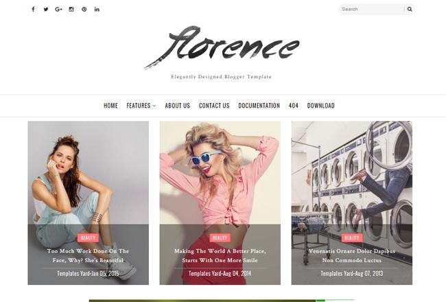 florence-minimal-elegant-blogger-template