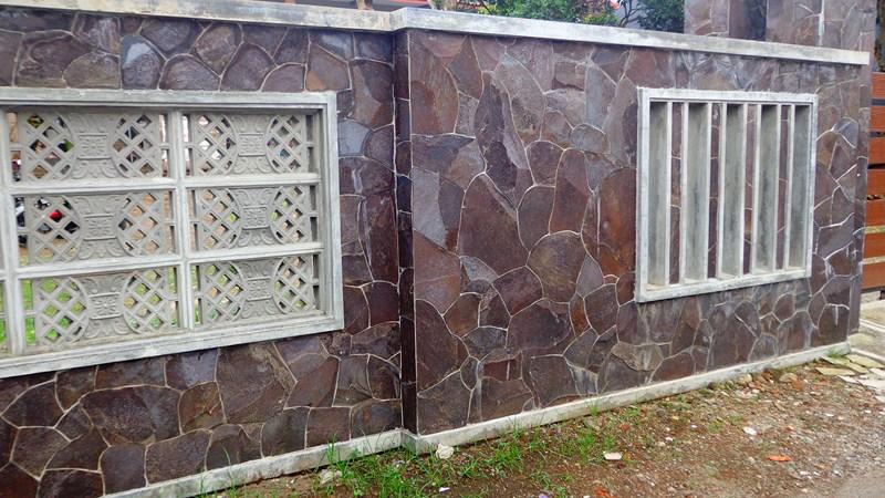 Galeri Pagar Rumah Mewah  pagar mewah batu paras jogja batu alam gunung sewu jual