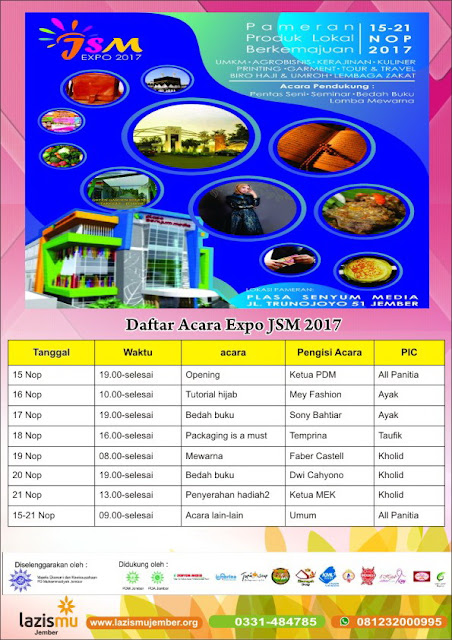 Expo JSM dan Lazismu Jember