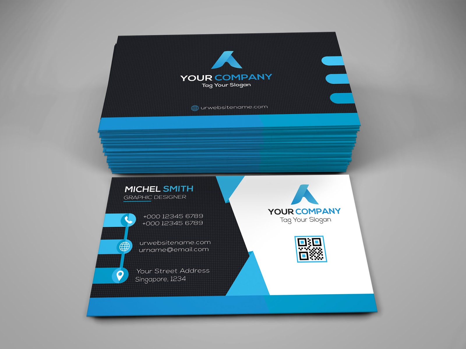 50+ Best Free High-Quality PSD Business Card Mockups | Top 50 Free ...