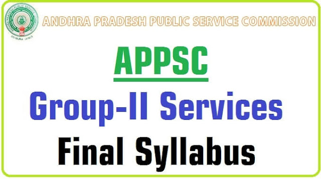 APPSC,Group-II Services,Syllabus