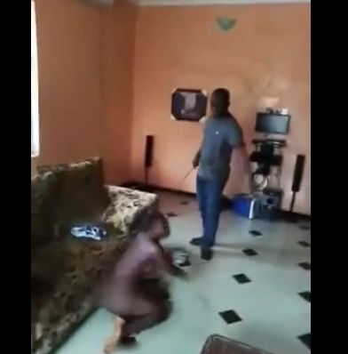 girl caught stripping by dad