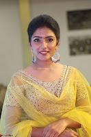 Actress Eesha in Yellow Choli Blue Ghagra at Darshakudu music launch 023.JPG