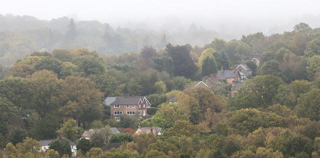 Marden's Hill from Church Hill car park, Ashdown Forest, 24 October 2017.