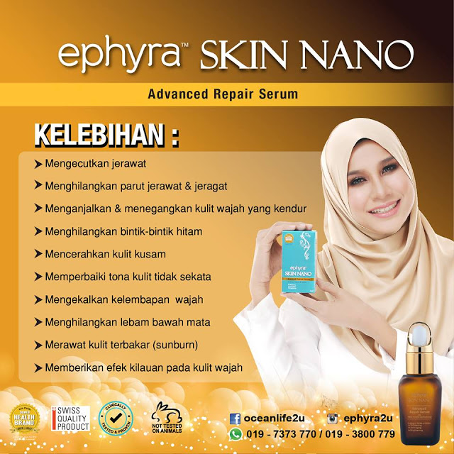 10 KESAN NYATA EPHYRA SKIN NANO ADVANCED REPAIR SERUM