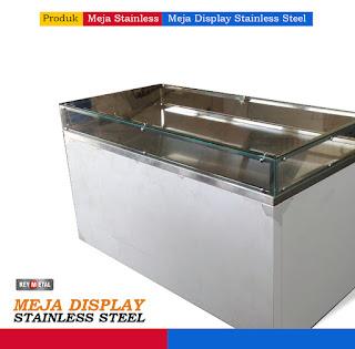 Meja Display Stainless Steel