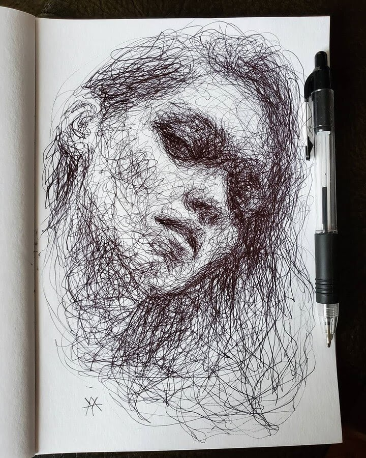 12-Scribble-Portraits-Liz-Y-Ahmet-www-designstack-co
