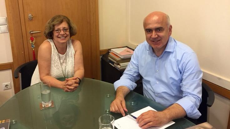 Συνάντηση Μέτιου με τη Γεν. Γραμματέα του Υπουργείου Πολιτισμού για έργα συντήρησης και ανάδειξης μνημείων της Περιφέρειας ΑΜ-Θ