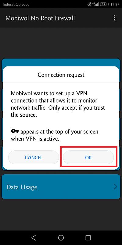 mobiwol membutuhkan akses untuk menghidupkan vpn (virtual private network)