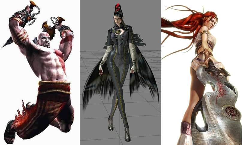 God of War vs. Bayonetta vs. Heavenly Sword
