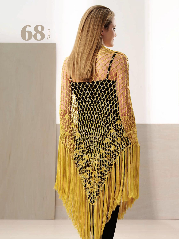 patrones gratis de crochet chal con flecos precioso a