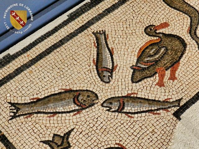 EPINAL (88) - Musée d'Art Ancien et Contemporain : Mosaïque aux Dauphins