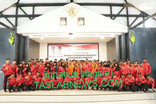 Atlet pelajar Kota Tanjungbalai yang mengikuti Popdasu ke-XIII di Padang Sidempuan, baru-baru ini.
