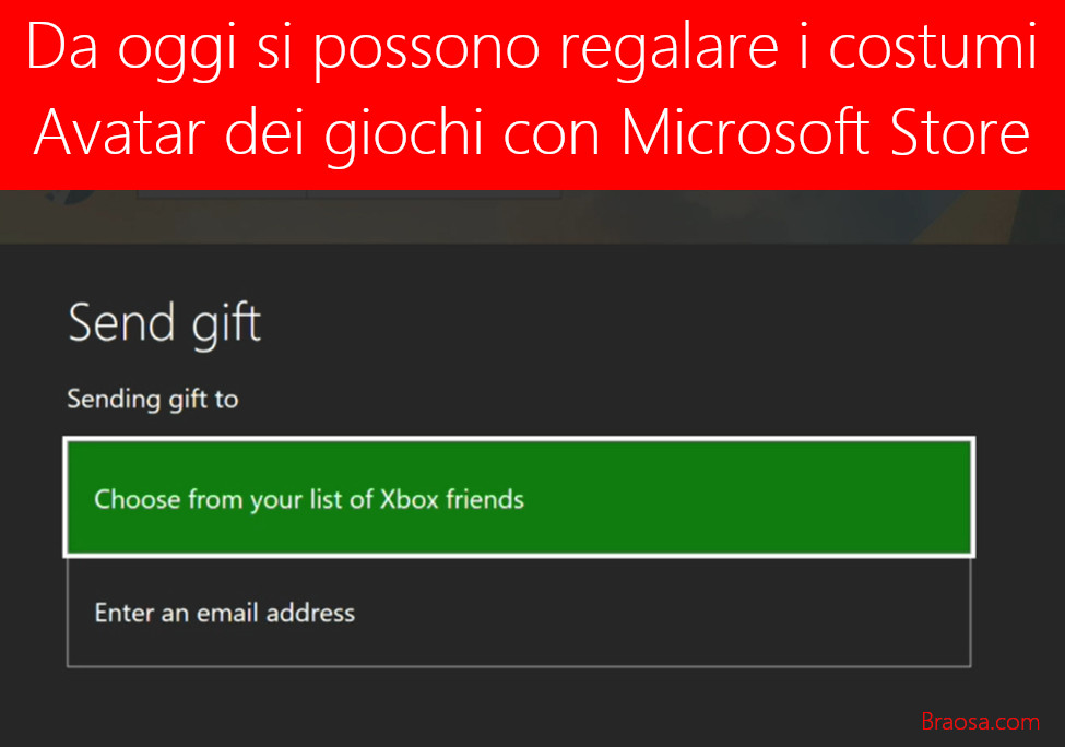 Con Microsoft Store adesso si possono comprare ed regalare i costumi degli avatar dei giochi Xbox
