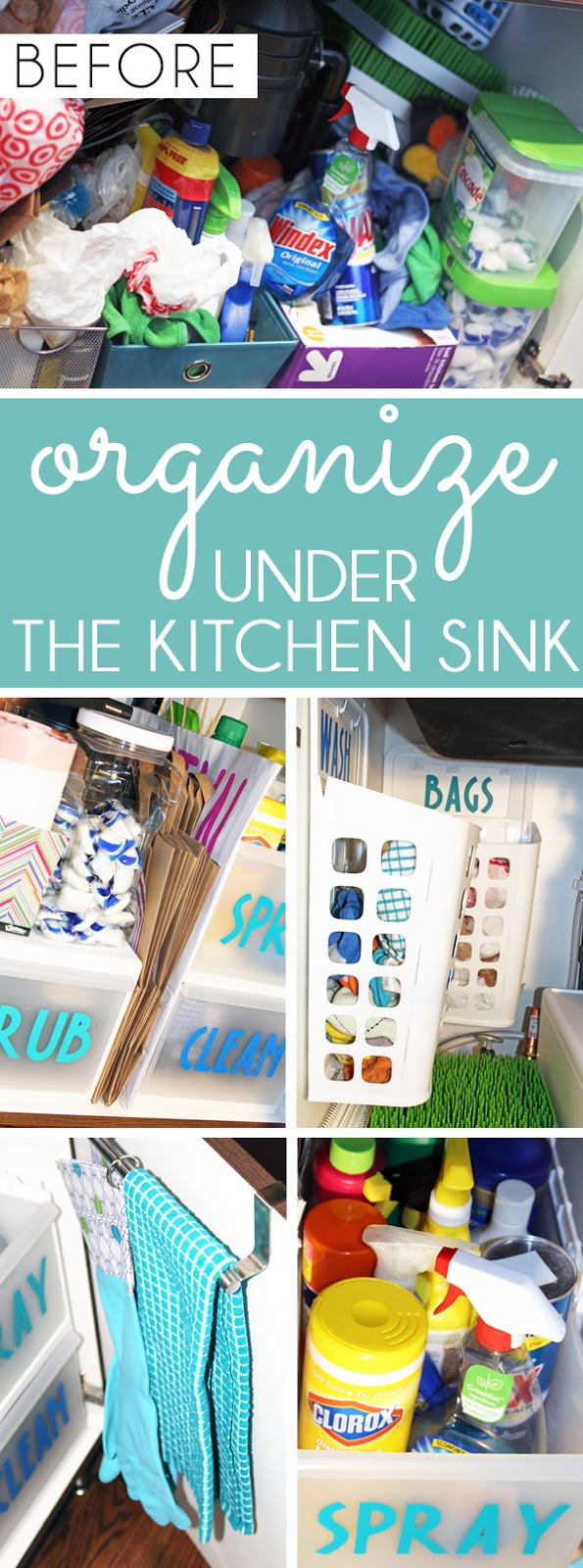 Organize Under A Sink - Under Sink Storage