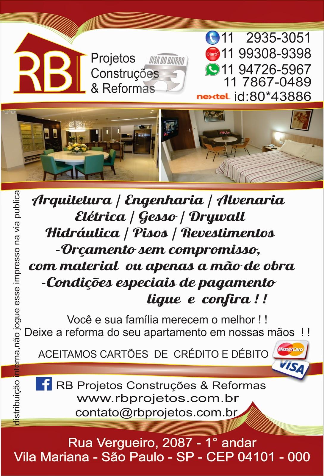 DISK DO BAIRRO: REFORMA E CONSTRUÇÃO NO JABAQUARA E NO
