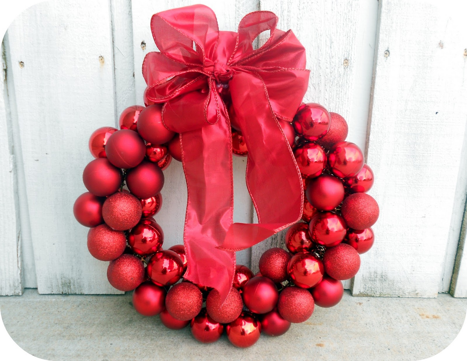 Top $6 Dollar Wire Hanger Christmas Ornament Wreath and Bow Tutorial  JI45