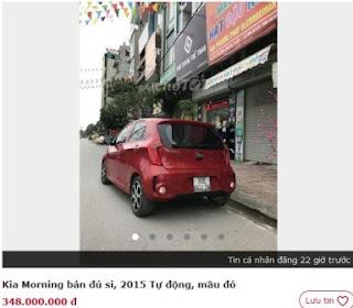 Xe Morning cũ giá rẻ