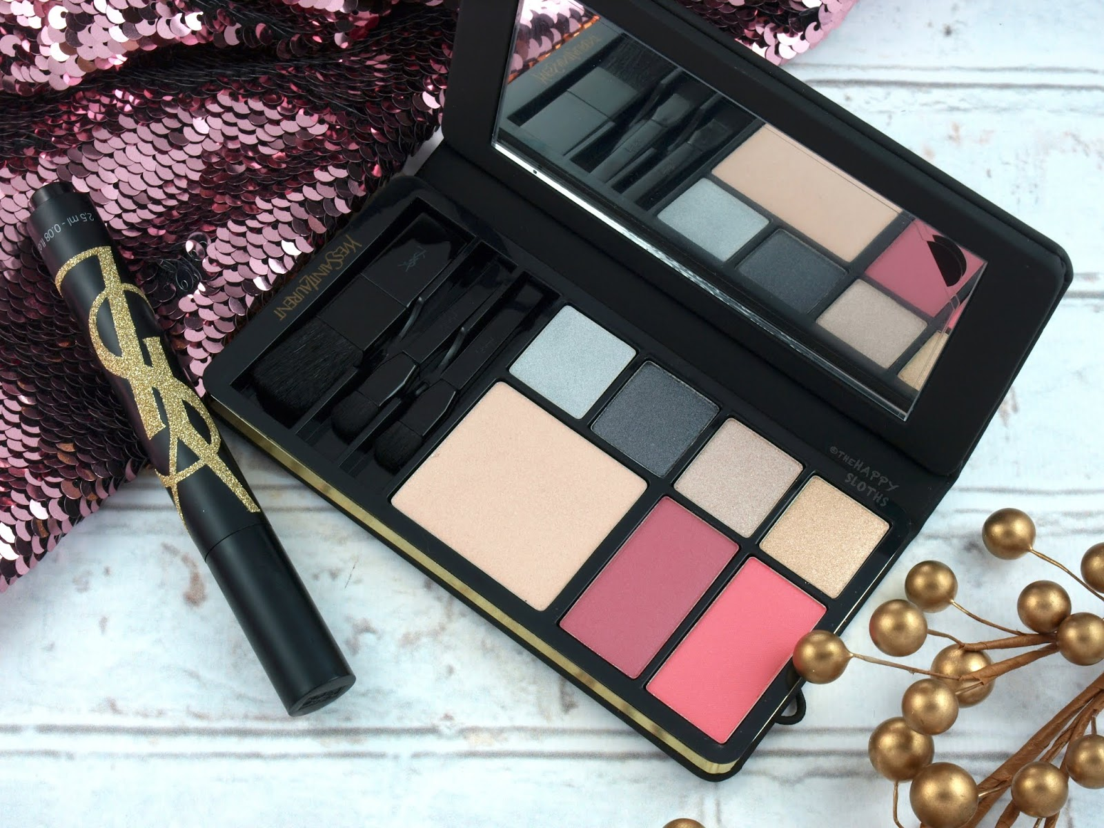 Yves Saint Laurent | Holiday 2018 Gold Attraction Makeup Palette: Review and Swatches